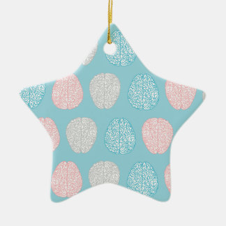 Brainy Pastel Pattern (Awesome Pastel Brains) Ceramic Star Decoration