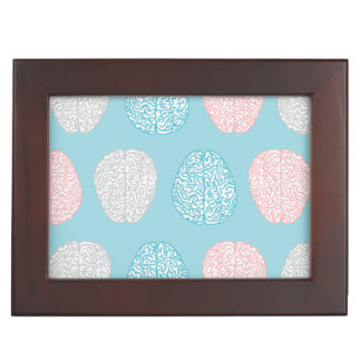 Brainy Pastel Pattern (Awesome Pastel Brains) Keepsake Box