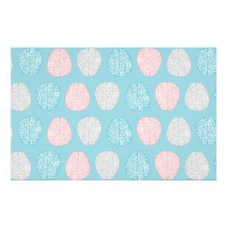 Brainy Pastel Pattern (Awesome Pastel Brains) Stationery