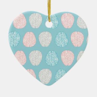 Brainy Pastel Pattern Ceramic Heart Decoration