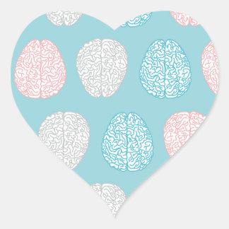 Brainy Pastel Pattern Heart Sticker