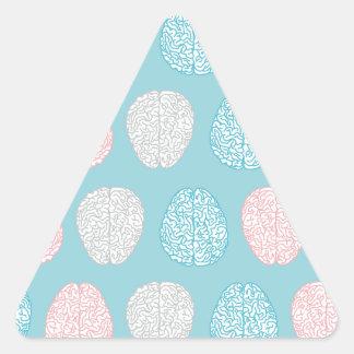 Brainy Pastel Pattern Triangle Sticker