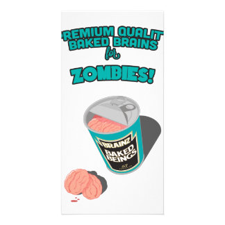 Brainz - Baked Beings Brains for Zombies Photo Card Template