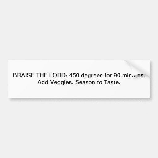 BRAISE THE LORD - bumper sticker