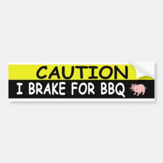 Brake For BBQ Bumper Sticker