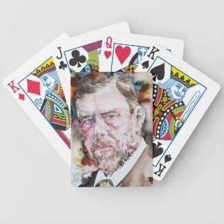 BRAM STOKER - watercolor portrait Bicycle Playing Cards