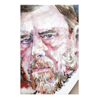 BRAM STOKER - watercolor portrait Stationery
