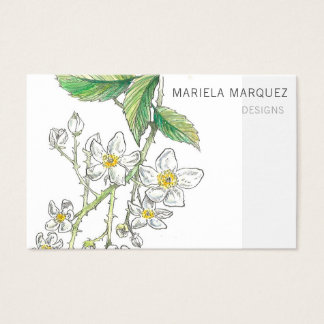 Bramble Blossom Personalised Business Card