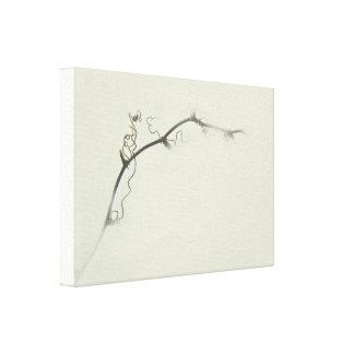 Bramble Tendrils in the Fog - Minimalism Gallery Wrap Canvas