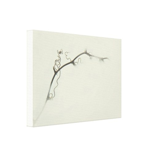 Bramble Tendrils in the Fog - Minimalism Gallery Wrap Canvas