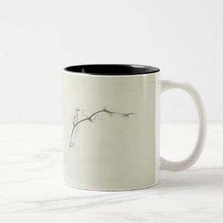 Bramble Tendrils in the Fog - Minimalism Two-Tone Mug