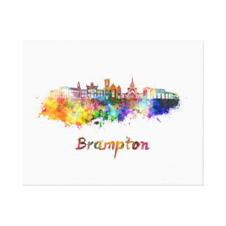 Brampton skyline in watercolor canvas print