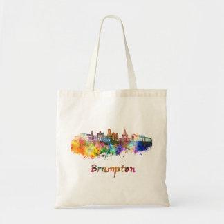 Brampton skyline in watercolor tote bag