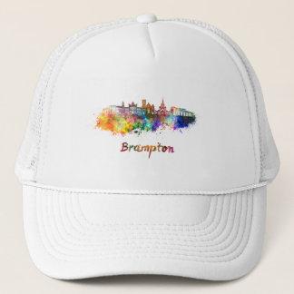 Brampton skyline in watercolor trucker hat