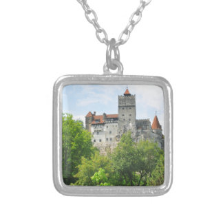 Bran castle, Romania Silver Plated Necklace