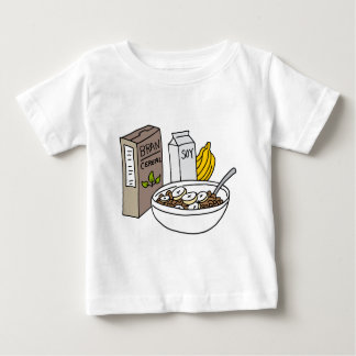 Bran cereal with bananas and soy milk tee shirt