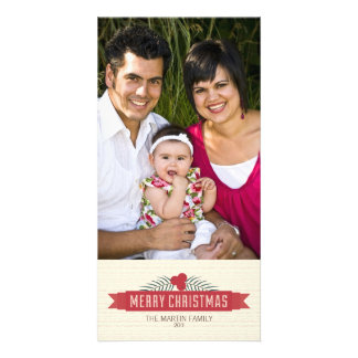 Branch & Banner Holiday Photo Greeting Photo Cards