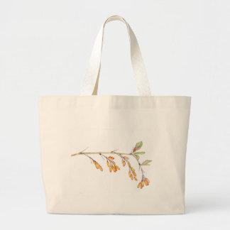 branch of barberry jumbo tote bag