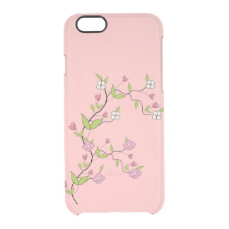 Branch of flowers clear iPhone 6/6S case