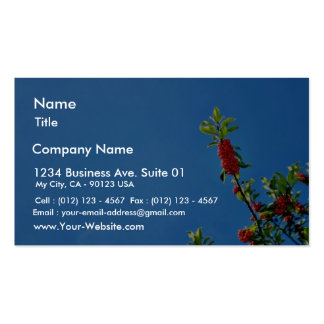 Branch Of Holly Against The Blue Sky Business Card