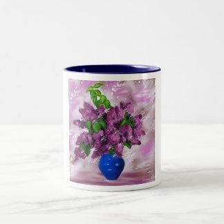 branch of lilacs coffee mug