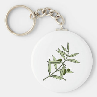 Branch of olive olive twig key ring