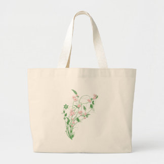 Branch of Pink Cherry Blossom Jumbo Tote Bag