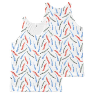 Branches All-Over Printed Tank Top