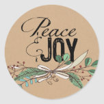 Branches and Berries Peace and Joy Sticker