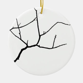 Branches by Leslie Peppers Round Ceramic Decoration