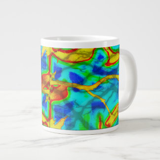 Branches in Bold Color Jumbo Mug