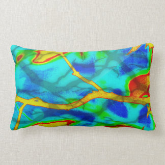Branches in Bold Colour Throw Pillow