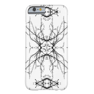 Branches kaleidoscope pattern   Black and White Barely There iPhone 6 Case