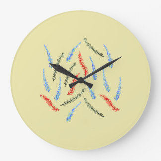 Branches Large Round Wall Clock