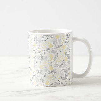 Branches, Leaves, and Flowers Basic White Mug