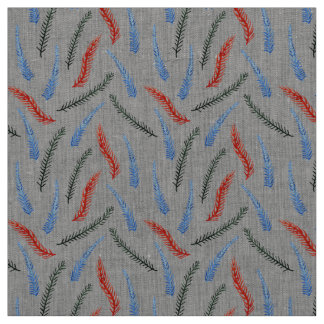 Branches Natural Linen Fabric