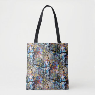 Branches Over Pond Abstract Tote Bag