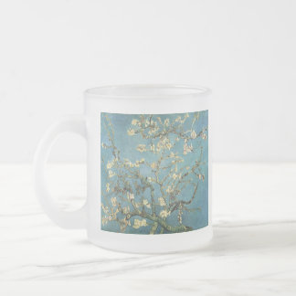Branches with Almond Blossom by Vincent van Gogh Frosted Glass Mug