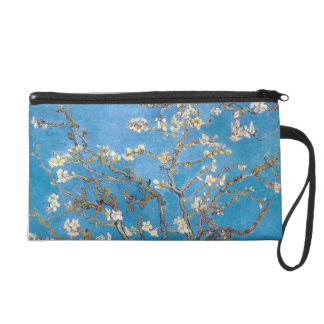 Branches with Almond Blossom Van Gogh Wristlet Purse