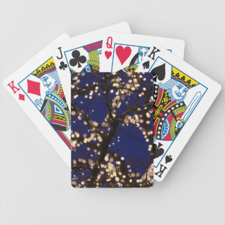 Branches with Christmas lights Bicycle Playing Cards