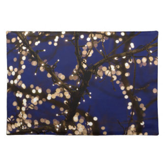 Branches with Christmas lights Placemat