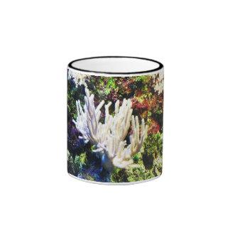 Branching white coral ringer mug