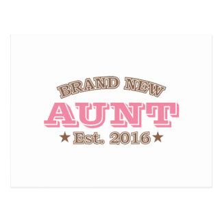 Brand New Aunt Est. 2016 (Pink) Postcard