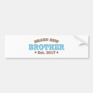 Brand New Brother Est. 2017 (Blue) Bumper Sticker