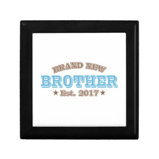 Brand New Brother Est. 2017 (Blue) Small Square Gift Box