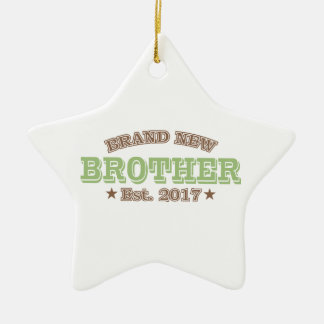 Brand New Brother Est. 2017 (Green) Ceramic Star Decoration