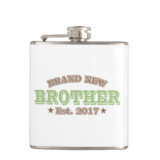 Brand New Brother Est. 2017 (Green) Hip Flask