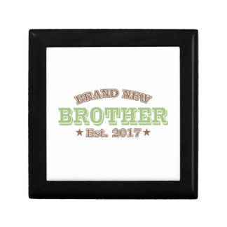 Brand New Brother Est. 2017 (Green) Small Square Gift Box