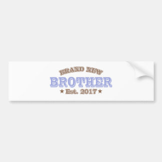 Brand New Brother Est. 2017 (Purple) Bumper Sticker