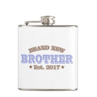Brand New Brother Est. 2017 (Purple) Flask